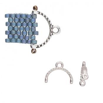 Skaloti-Terminale Per Perline Rocailles 11/0-Argentato Anticato 11x9mm