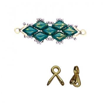 Triades-Terminale Per Perline Gemduo-Ottone Anticato 7x6mm