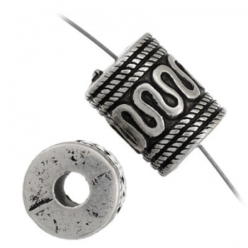 Distanziatore Cilindro Bagnato-Argento 925-10x13mm
