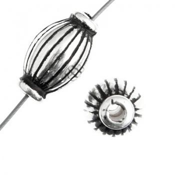 Distanziatore Cilindro Bagnato-Argento 925-8x15mm