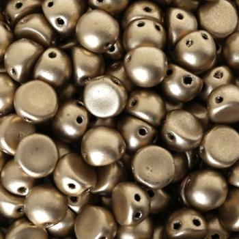 Cabochon 2 Fori Matte Metallic Flax 7mm