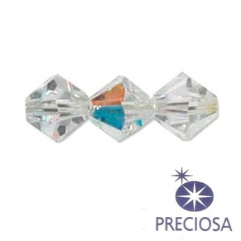 Bicono Preciosa Crystal AB 3mm