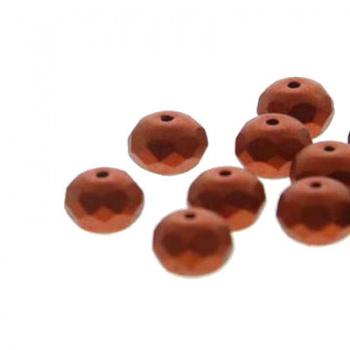 Fire Polish Donut Bronze Copper 5x3mm