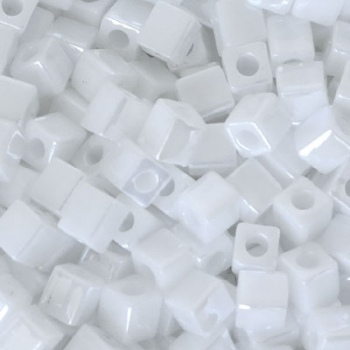 Perline Cubi Miyuki 4mm Square White