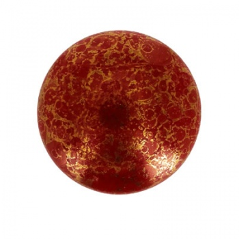 Cabochon Vetro Par Puca®-Opaque Coral Red Bronze-18mm