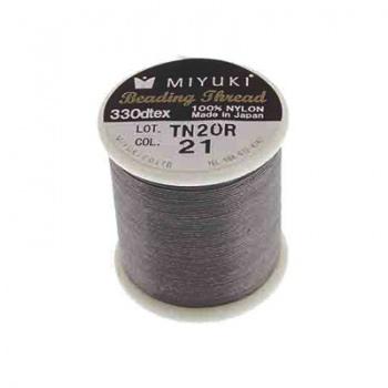 Filo Nylon Miyuki Grey Smoke-Misura 0,25mm-Bobina Da 50mt