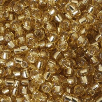 Perline Rocailles Miyuki 6/0 Silver Lined Light Gold