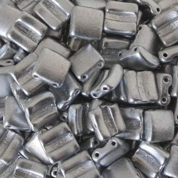 Perline Vetro Fixer Crystal Bronze Alluminium 8x7mm-Fori Orizzontali