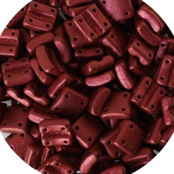 Perline Vetro Fixer Chalk Lava Red 8x7mm-Fori Verticali