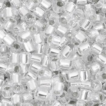 Perline Delica Miyuki 8/0 Transparent Crystal AB