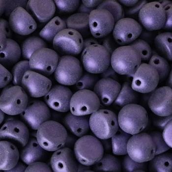 Cabochon 2 Fori Metallic Suede Purple 7mm