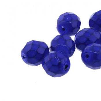 Fire Polish Snake Cobalt Blue 3mm