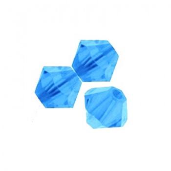 Bicono Preciosa Light Sapphire 3mm