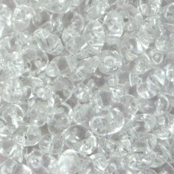 Perline Superduo 2.5x5mm Crystal