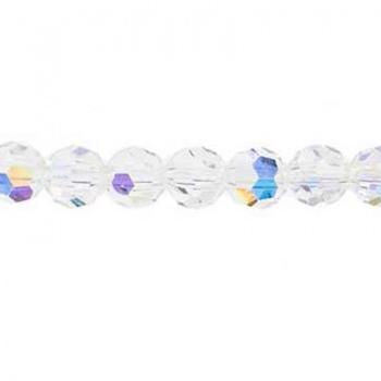Tondo Sfaccettato Preciosa Crystal AB 4mm