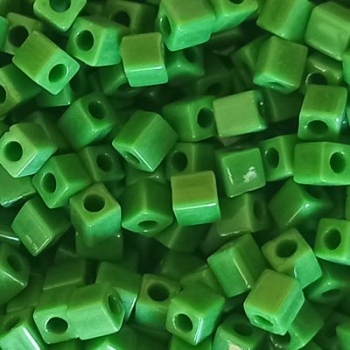Perline Cubi Miuki 4mm Square Opaque Green