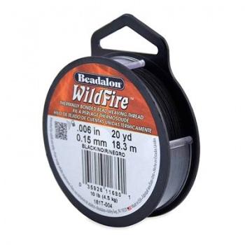 Filo Wildfire Black Misura 0,15mm 18,3 mt