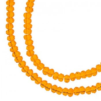 Rondella Cinese Glass 2,5x1,5mm Transparent Orange