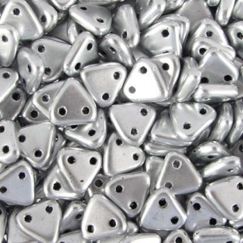 Perline Triangoli 6mm Matte Metallic Silver