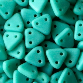 Perline Triangoli 6mm Matte Turquoise