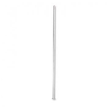 Chiodino Testa Piatta Argentato Rodiato 50mm Diametro 0,50mm