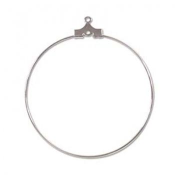Orecchino Cerchio Argentato 40mm