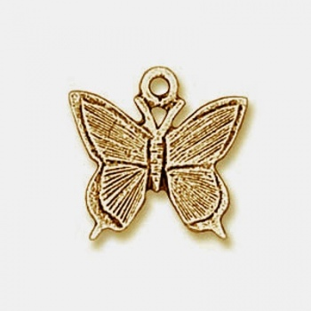 Charm Farfalla Dorata Anticata 10mm
