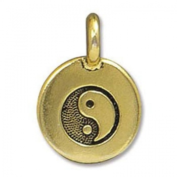 Charm Yin Yang Dorato Anticato 16mm