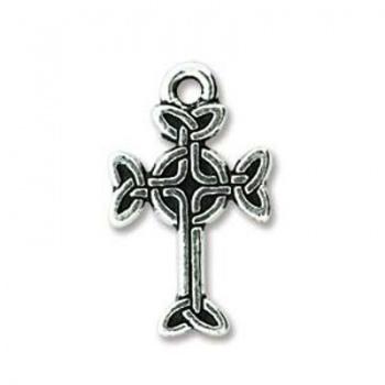 Charm Croce Celtica Argentata Anticata 19mm